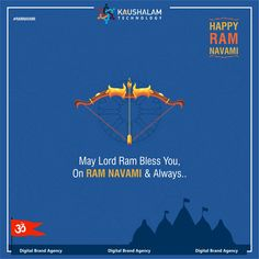 """Let""""s celebrate a tradition of oneness and brotherhood in this Ram Navami. Happy Ram Navami to all of you from Kaushalam Technology. Happy Ram Navami, Digital Marketing, Social Media, Graphic Design, Technology, Let It Be, Creative, Movie Posters, Tech"""