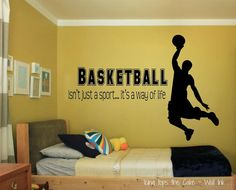 Hey, I found this really awesome Etsy listing at https://www.etsy.com/listing/192445677/basketball-vinyl-decal-basketball-player