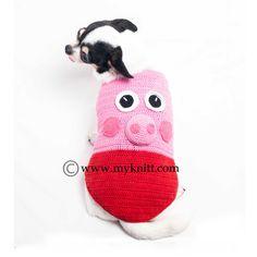 Peppa Pig Dog Costumes Unique Handmade Crochet DK998 #myknitt #handmade #crochet #peppapig #amigurumi