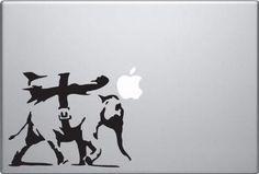 Banksy Elephant Bomb Macbook Sticker Decal