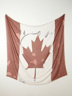 Free People Canada Flag Scarf - $38.00