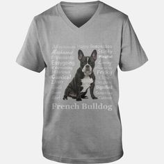 Frenchie #Bulldog Traits Grandpa Grandma Dad Mom Girl Boy Guy Lady Men Women Man Woman Dog Lover, Order HERE ==> https://www.sunfrog.com/Pets/127517774-784539236.html?47759, Please tag & share with your friends who would love it, #jeepsafari #xmasgifts #superbowl