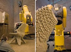 dirk vander kooij: new version of endless chair using robotic 3D Printer