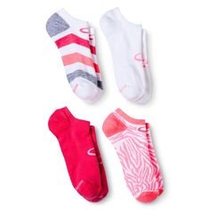 C9 Champion Women's Athletic Ankle Socks 4-Pack - Pink 5-9