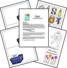 The Lorax study and printables -   -  Pinned by @PediaStaff – Please Visit ht.ly/63sNt for all our pediatric therapy pins