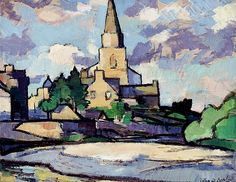 S.J. Peploe (1871-1935) - The Church at Comrie