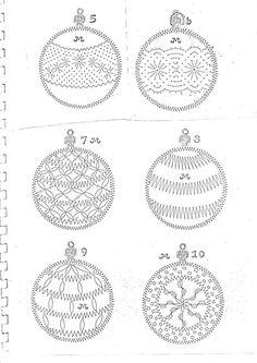 Kloppelspitze Weihnachtsentwurf - Her Crochet Crochet Motifs, Knit Or Crochet, Filet Crochet, Needle Tatting, Tatting Lace, Tattoo Dentelle, Bobbin Lacemaking, Christmas Arts And Crafts, Bobbin Lace Patterns
