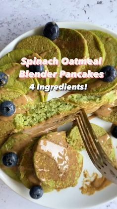 Healthy Baby Food, Healthy Toddler Meals, Healthy Breakfast Recipes, Healthy Snacks, Vegetarian Recipes, Healthy Oatmeal Pancakes, Heathy Food Recipes, Healthy Spinach Recipes, Frozen Spinach Recipes