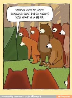 Content tagged with funny bear cartoon. Camping Humor, Go Camping, Funny Camping, Family Camping, Camping Ideas, Camping Signs, Camping Stuff, Camping Checklist, Camping Hacks