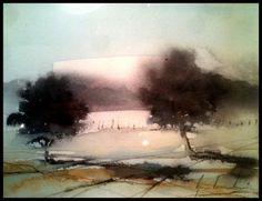 Akvarell av Björn Bernström: Akvareller