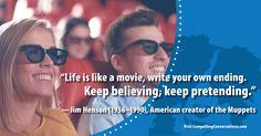 #quote #optimism #movies #imagination #JimHenson #CompellingConversations