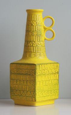 West Germany vase by Bay form number 71-35 design Bodo Mans 1960s