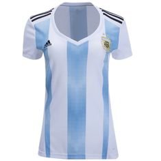 afc43e3d6 Argentina 2018 World Cup Home Women Soccer Jersey Personalized Name and  Number