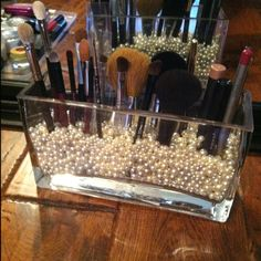 Makeup brushes! Finally made my own! Great storage and display ;)