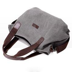 Durable Canvas Big Capacity Shoulder Bags Simple Crossbody Bags - US$29.99