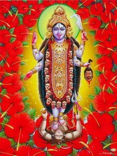 Goddess Kali - Hindu Posters (Reprint on Paper - Unframed) Rudra Shiva, Mahakal Shiva, Lord Krishna, Indian Goddess Kali, Durga Goddess, Mother Kali, Mother Goddess, Maa Image, Kali Hindu