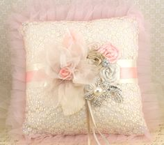 sweet pillow with ribbons