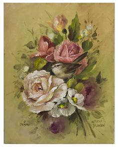 The Carolina Wren. Learn to paint roses and birds by instantly downloading the video and pattern.