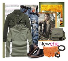 """NEWCHIC 92. (Men 1.)"" by carola-corana ❤ liked on Polyvore featuring men's fashion and menswear"