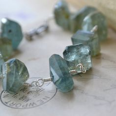 Moss Aquamarine Bracelet @Monica Grover $98 Sterling & Gemstones the Kind.  #looksgoodonya