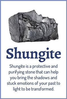 Top 3 Benefits of Shungite: Purifying your aura and environment from negative energies Clearing stuck emotional patterns Strengthening your emotional and energetic boundaries Learn about healing crystals at Crystals Minerals, Rocks And Minerals, Crystals And Gemstones, Stones And Crystals, Gem Stones, Chakra Crystals, Crystal Healing Stones, Crystal Magic, Crystal Grid
