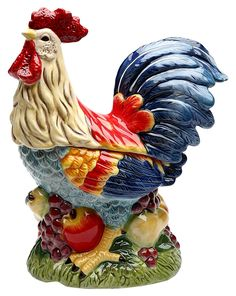 StealStreet SS-CG-31979 184' Tall Painted Standing Rooster on Fruit Kitchen Cookie Jar >>> See this great image  (This is an amazon affiliate link. I may earn commission from it)