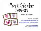 Heart Calendar Numbers