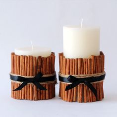 It's not fall without the smell of cinnamon and spice in the air. Bring the natural beauty of the season into your home with this easy DIY cinnamon candle.