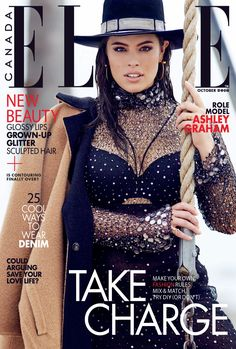 Ashley Graham by Max Abadian for ELLE Canada October 2016 Cover