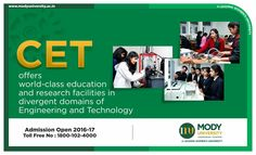 CET offers world-class education and research facilities in divergent domains of Engineering and Technology.