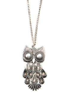 MANGO - Chain with oversize owl pendant