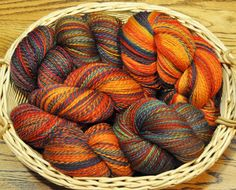 Another basket of handspun, hand dyed yarn from Edgewood Garden Studio