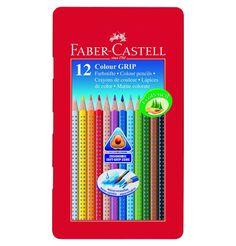 Faber-Castell Colour Grip Farbstift 12-teilig Blechetui #1000undEinenWunsch