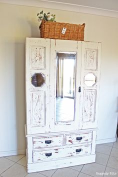 Old Farmhouse Cupboard Furniture Makeover