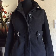 Peacoat Size Small Very flattering Peacoat. Form fitting. No stains or tears. Polyester Jack by BB Dakota Jackets & Coats Pea Coats