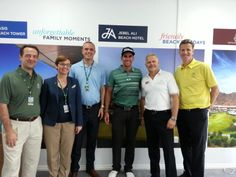 """Our team with Rafael """"Rafa"""" Cabrera-Bello at the 2014 Omega Dubai Desert Classic. We were pleased to be the official event caterers and the official hotel partner."""