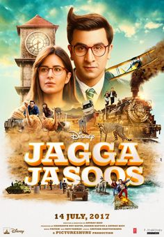 Jagga Jasoos new poster: Ranbir Kapoor and Katrina Kaif's epic adventure will make you excited for the movie - view pic. - Jagga Jasoos' latest poster gives us a sneak peek into Ranbir Kapoor and Katrina Kaif's epic adventure - view pic Hindi Movies Online, Watch Free Movies Online, Streaming Vf, Streaming Movies, Jagga Jasoos Full Movie, Full Film, Movie Tv, Jagga Jasoos Movies, Movies Free