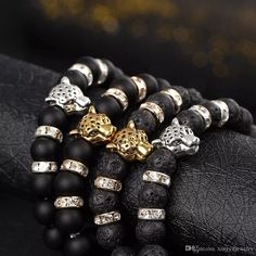 Wholesale cheap stone bead bracelets online, bracelets type - Find best 2016 newest gold leopard one piece gold plated charm elastic bracelet matte onyx natural stones for women man jewelry at discount prices from Chinese beaded, strands supplier - xingyujewelry on DHgate.com.