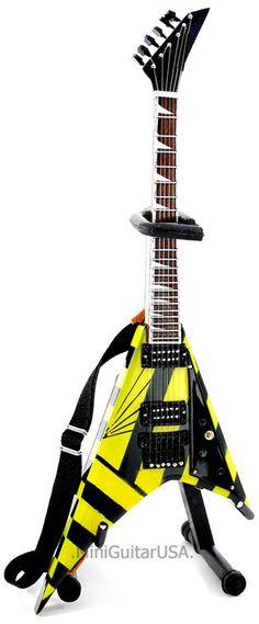 Michael Sweet Stryper Miniature Guitar Replica Collectible