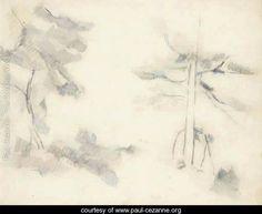 Deux arbres - Paul Cezanne - www.paul-cezanne.org
