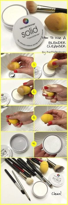 How to use a SOLID Blender Cleanser for Makeup Sponges! Diy Makeup Sponge, Diy Makeup Kit, Beauty Blender Cleanser, Diy Beauty Blender, Diy Makeup Remover Coconut Oil, Coconut Oil Beauty, Brush Cleanser, Makeup Yourself, Make Up