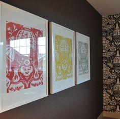 Wallpaper samples in Ikea Ribba Frames = Simple & Fun Art!