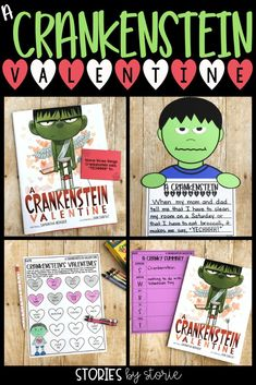 An ordinary kid becomes Crankenstein on the most lovey-dovey, yuckiest day of the year - Valentine's Day. Here are several activities you can pair with A Crankenstein Valentine by Samantha Berger.