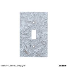 Textured Glass Light Switch Plates