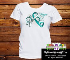 Cervical Cancer Heart of Hope Ribbon Shirts - Cancer Apparel and Gifts