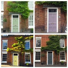 Browse thousands of interior and exterior images from Farrow & Ball. Be inspired with stunning home decor images and design ideas for your home. Exterior Paint, Interior And Exterior, 1930s Doors, Cottage Front Doors, Front Door Colors, House Entrance, Farrow Ball, Garden Gates, House Front