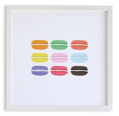 Macarons art - available at MADEBYGIRL.com