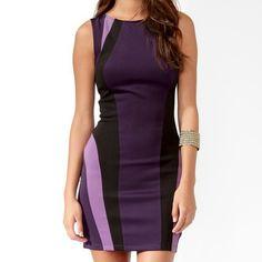 Forever 21 Purple Multicolor Dress Small Nwt Purple Colorblock Dress Forever 21 Dresses
