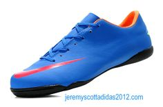 Nike Mercurial 2012 Victory VIII IC Indoor Soccer Shoes Blue Red Nike Soccer 68b2e84c87