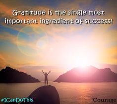 Gratitude is the single most important ingredient of success. #ICanDoThis #quote #grateful http://ift.tt/1LJwlAM February 26 2016 at 10:21PM